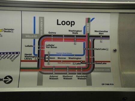 plan métro Chicago