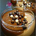..panna cotta pralinée et mousse au chocolat noir..