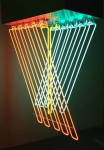 13 Exposition Dynamo, Grand palais, Paris, Stephen Antonakos, Hanging Neon