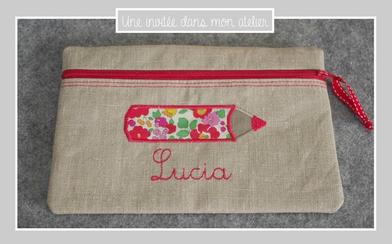 trousse plate-personnalisée-crayon Liberty betsy grenadine