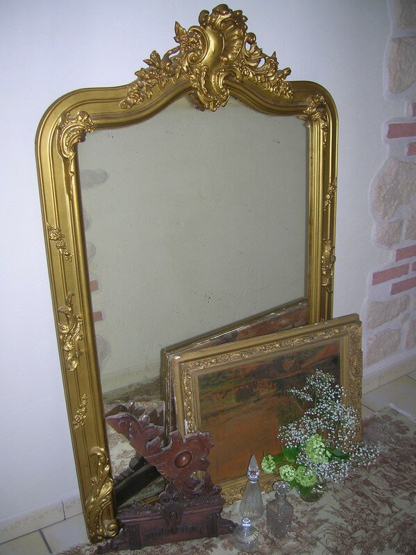Miroir ancien photo de brocante antiquit s le for Miroirs anciens