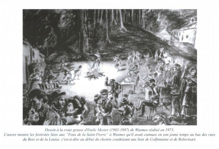 petit wasmes rue du bois dessin feu de saint pierre photo de wasmes cartes postales. Black Bedroom Furniture Sets. Home Design Ideas