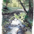 Parc de consolation (doubs) | aquarelle