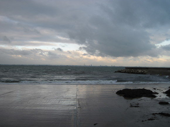 Ryde (Isle of Wight) - Vue sur Portsmouth