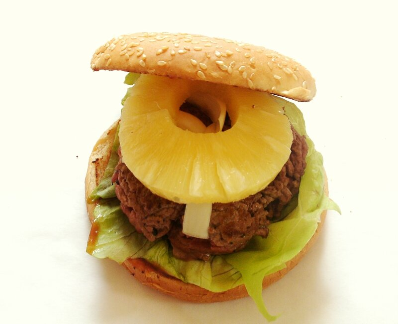 recette de hamburger au boeuf et à l'ananas 2