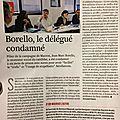 Borello, le délégué condamné ( macron )