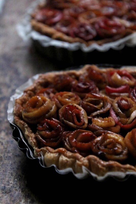 tarte pommes bouquet de rosesB