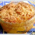 CRUMBLE AUX PECHES