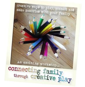 Connecting family through creative play workshop