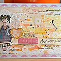 Carte d'anniversaire Clara - Février 2016