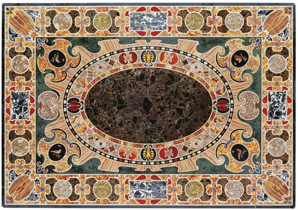 A Magnificent Late Renaissance Antique Marble Inlaid Table