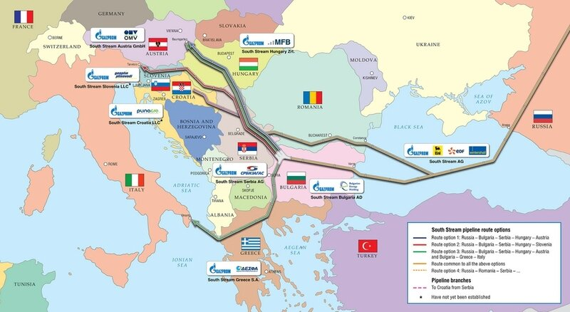 South Stream offshore route
