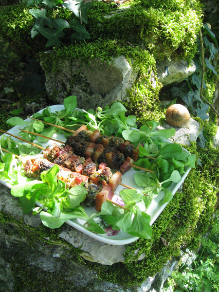 Brochette d'escargots