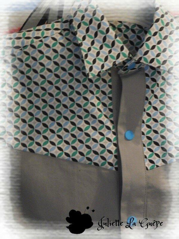 grise géométrique bleu vert 2