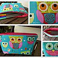trousse crayons chouette
