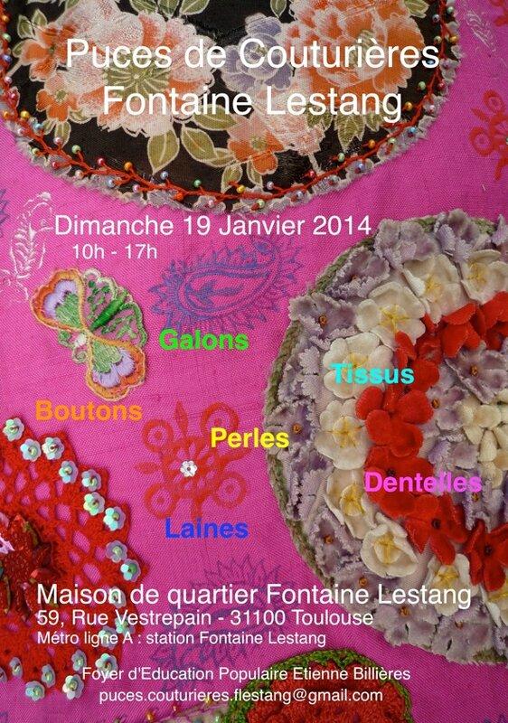 Puces de couturires Fontaine Lestang 19 janvier 2014