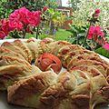 Gâteau à la rhubarbe du jardin et sa compotée