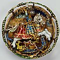 Hat badge with st. george and the dragon, flemish , c. 1520. royal collection © her majesty queen elizabeth ii
