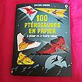 100 ptérosaures en papier à plier et faire voler des éditions usborne