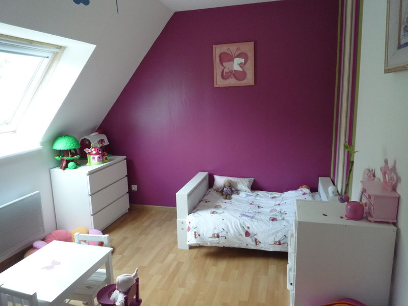 Chambre fille rose vert anis meilleures images d for Chambre petite fille rose