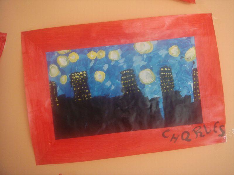 Bekannt Arts visuels - à la manière de Van Gogh - Nuit étoilée sur le  MA92