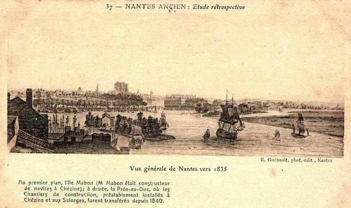 Nantes ancien - vue générale 1835