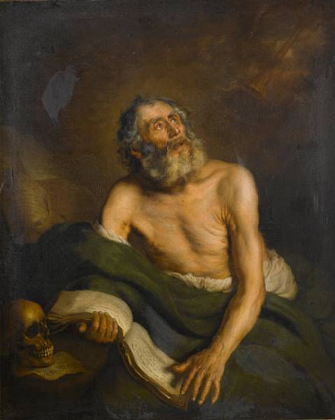 Spanish School, 1650. Saint Jerome
