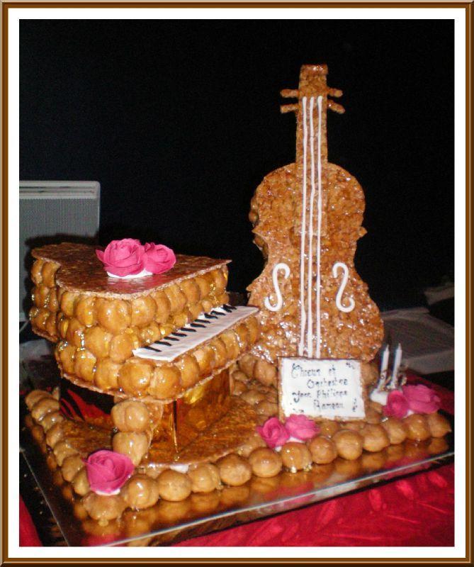 Pi ce mont e sur le th me de la musique les d lices d 39 alexandra - Photos de pieces montees originales ...