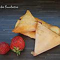 Triangles de munster aux fraises