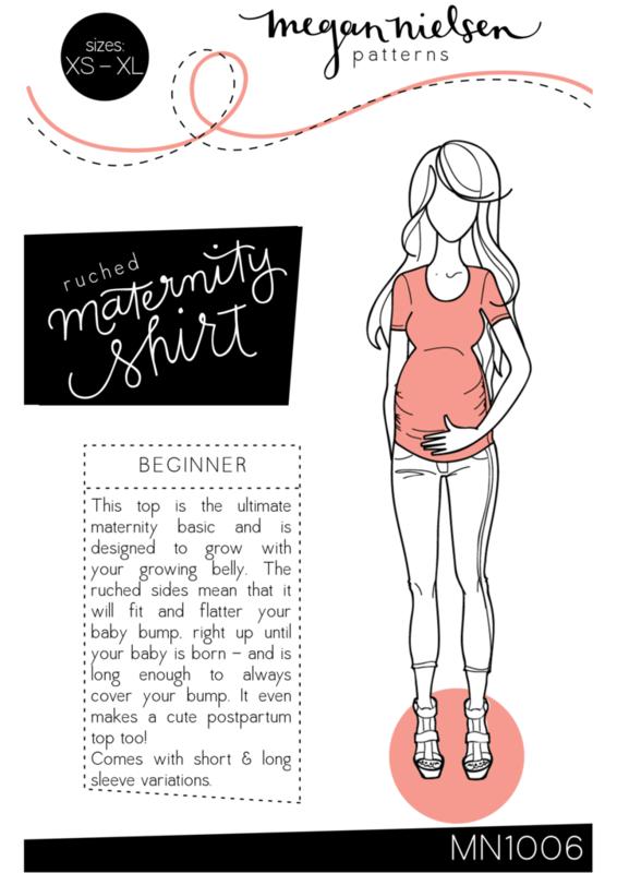 Megan Nielsen - Ruched Maternity Shirt j