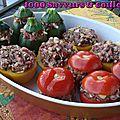 Petits légumes farcis (saveurs provençales tricolores)