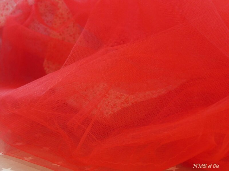 robe Gisèle rouge tulle