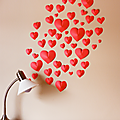 Cœurs en papier pour le mur