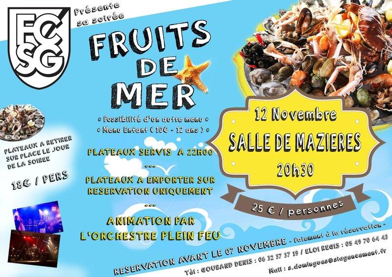 affiche soirée fruit de mer 2016