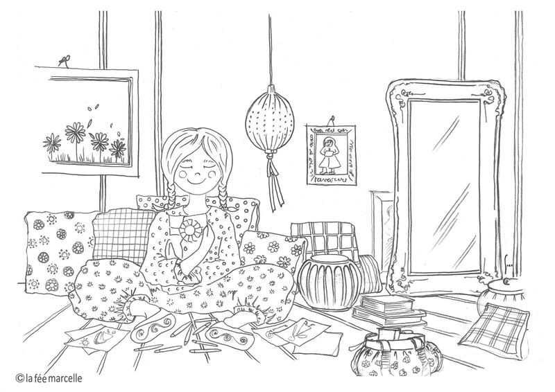 Coloriages la f e marcelle - Coloriage fille 6 ans ...