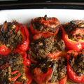 Poivrons et tomates farcis