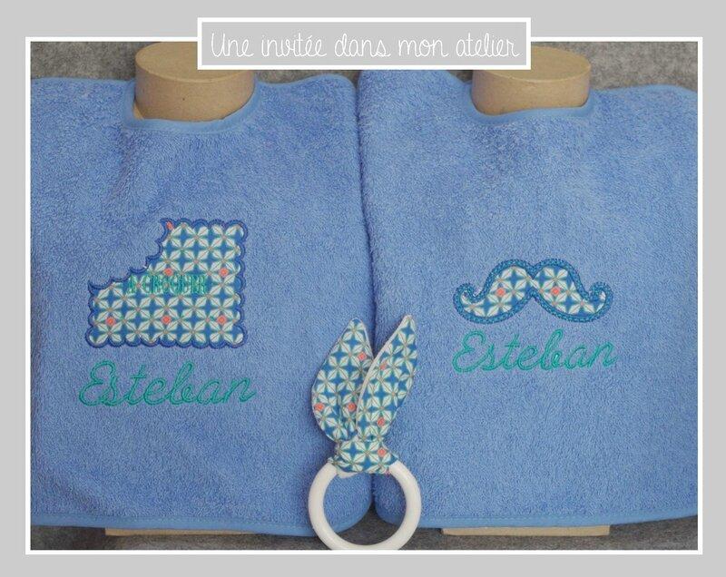 bavoirs-personnalisés-cadeau de naissance-tissu petit pan
