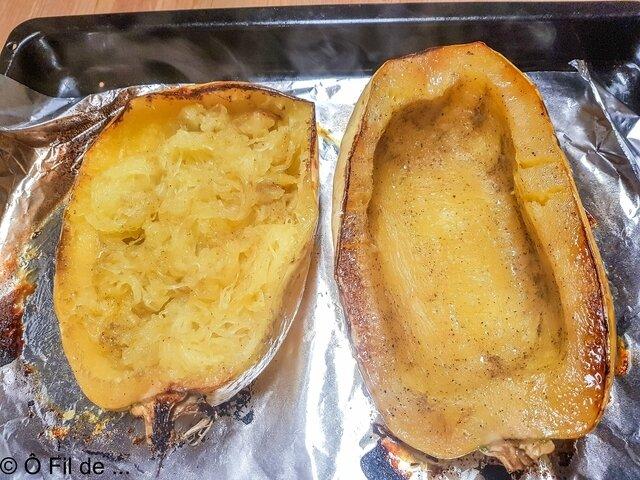 courge spaghetti et poulet au citron (2)
