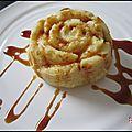 Gâteaux de semoule au nappage caramel