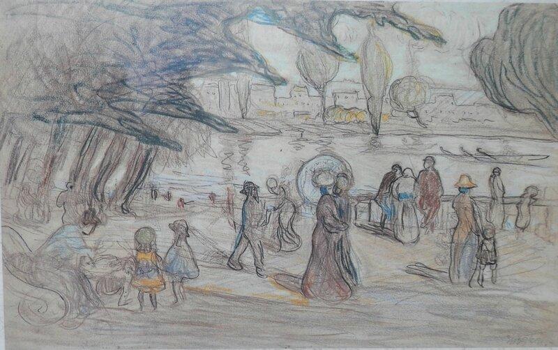 île de la grande Jatte 1909 Albert Gleizes