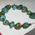Bracelet imitation turquoise
