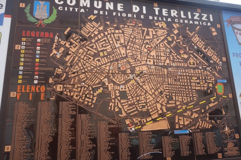 plan de la ville de Terlizzi