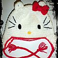 Modèle n°53 : bonnet hello kitty