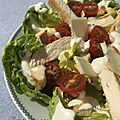 Sauce sans œufs et light pour salade césar