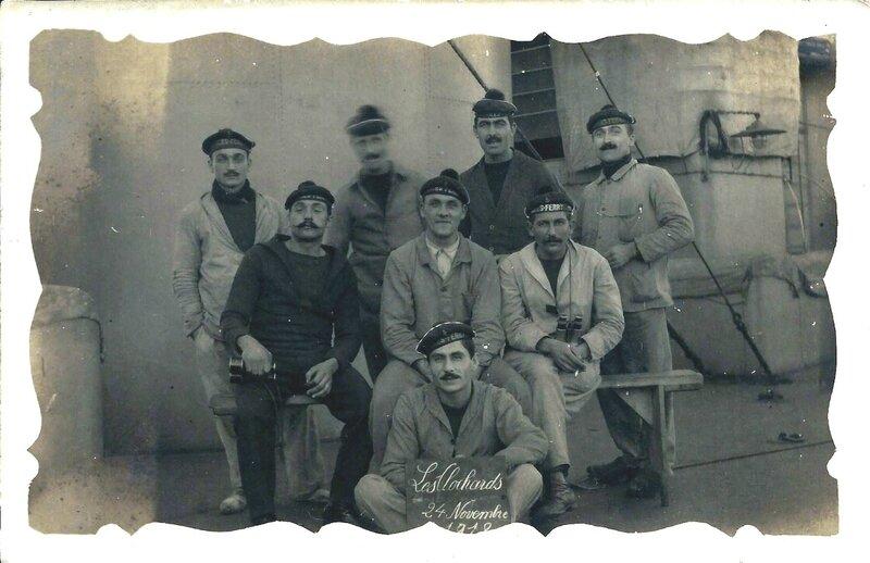 1918 - Joseph est ebeniste de marine durant la guerre