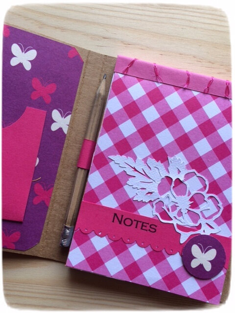 carnet bloc notes rose 2