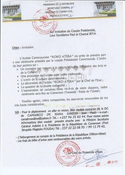 informations du jour cameroun