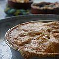 Apple pie et ses minis blueberry pies