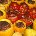 tomates et courgettes farcies ...