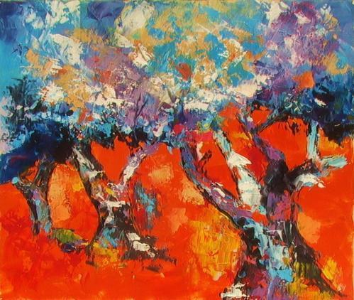 Guy leroy peintures abstraites la compagnie des cr atrices for Peintures abstraites